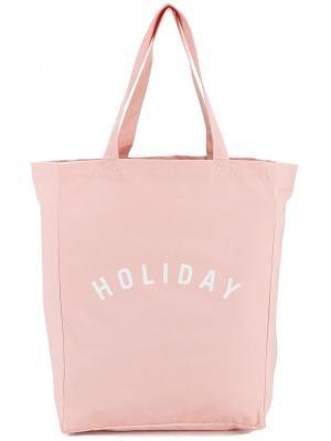 Холщовая сумка-тоут с логотипом Holiday. Цвет: розовый и фиолетовый
