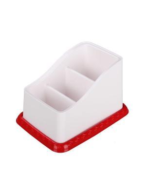 Подставка под столовые приборы Каскад (бело-крас.) Альтернатива. Цвет: белый, красный