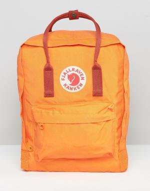 Fjallraven Классический рюкзак выгоревшего оранжевого цвета Kanken. Цвет: оранжевый