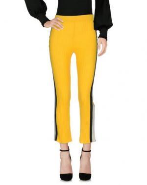 Повседневные брюки AKEP. Цвет: желтый