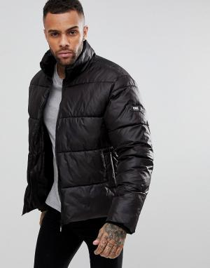 Puffa Дутое пальто Original. Цвет: черный