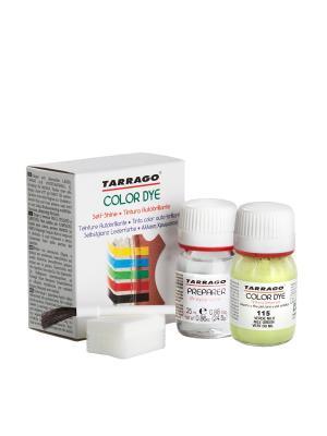 Краситель+очиститель  для гладкой кожи TDC05 COLOR DYE, стекло, 2 х 25мл. (115 светло-салатовый) Tarrago. Цвет: салатовый