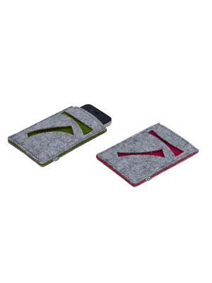 Набор из 2-х чехлов для телефона Bizzotto. Цвет: зеленый, серый, розовый