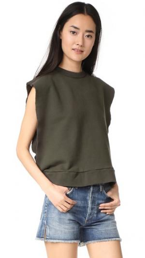 Пуловер с открытыми боками Oak. Цвет: защитный