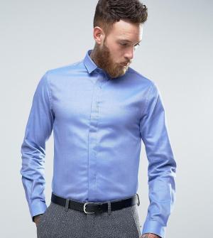 Heart & Dagger Облегающая саржевая рубашка. Цвет: синий