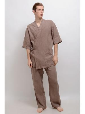Пижама LINO RUSSO. Цвет: светло-коричневый
