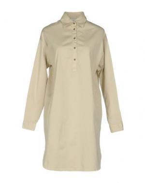 Короткое платье AGLINI. Цвет: бежевый