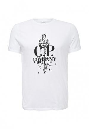 Футболка C.P. Company. Цвет: белый