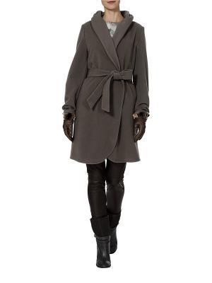 Пальто APART. Цвет: темно-бежевый