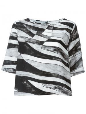 Блузка Suffix Minimarket. Цвет: чёрный