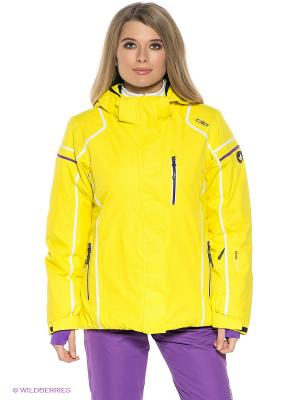 Куртка CMP. Цвет: желтый, сиреневый