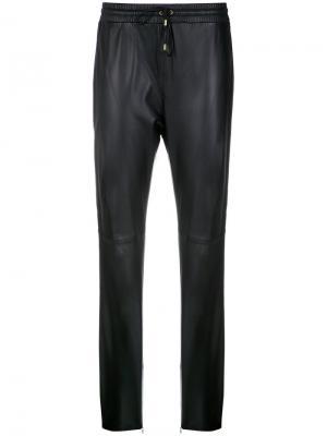 Leather straight trousers Nk. Цвет: чёрный