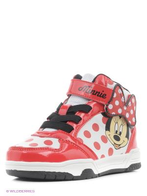 Ботинки Minnie Mouse. Цвет: красный, белый