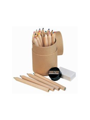 Набор цветных карандашей в тубусе Дерево Счастья. Цвет: бежевый