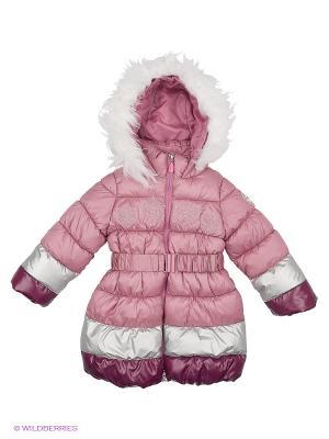 Пальто BOOM. Цвет: бледно-розовый, бордовый, серебристый