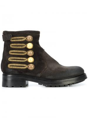 Embellished button ankle boots Chuckies New York. Цвет: чёрный