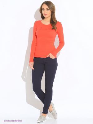 Лонгслив United Colors of Benetton. Цвет: красный, оранжевый