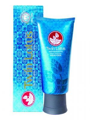 Зубная паста Премиум Свежесть и Прохлада  с натуральными травами 100 гр Twin Lotus. Цвет: голубой
