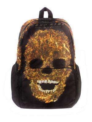 Рюкзак Призрачный гонщик 3D Bags. Цвет: черный, оранжевый