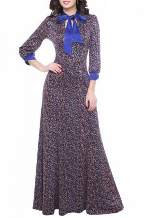Платье Olivegrey. Цвет: синий цветочек