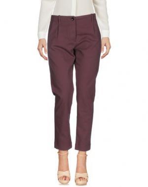 Повседневные брюки NINE:INTHE:MORNING. Цвет: баклажанный