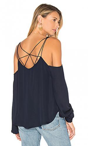 Блуза с открытыми плечами crossroads Haute Hippie. Цвет: синий
