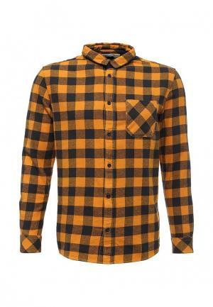 Рубашка Quiksilver. Цвет: желтый