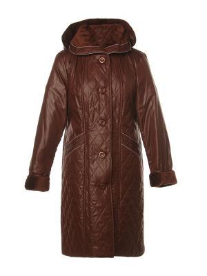 Пальто AMALIA COLLECTION. Цвет: терракотовый