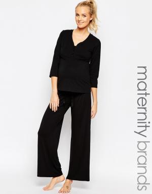 Hotmilk Домашние штаны для беременных Harmony. Цвет: черный