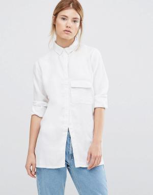 Waven Белая рубашка с длинными рукавами Laure. Цвет: белый
