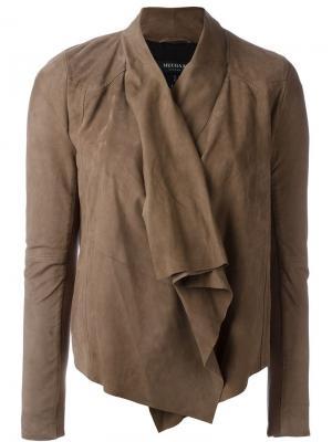 Драпированная куртка Muubaa. Цвет: коричневый