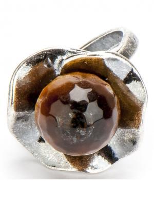Кольцо Аскон тигровый глаз Колечки. Цвет: коричневый