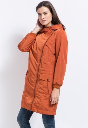 Куртка утепленная Finn Flare. Цвет: оранжевый