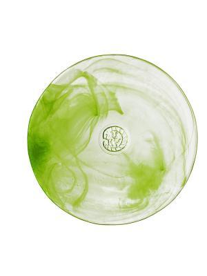 Mine lime тарелка d 200mm Kosta Boda. Цвет: зеленый