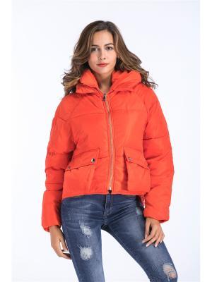 Куртка Katomi. Цвет: оранжевый