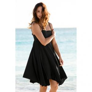 Пляжное платье ELLOS. Цвет: черный