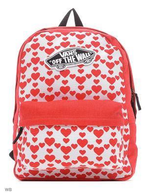 Рюкзак REALM VANS. Цвет: красный, белый