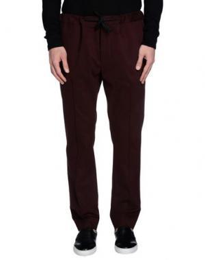 Повседневные брюки MARC JACOBS. Цвет: баклажанный