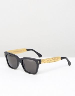 Retrosuperfuture Солнцезащитные очки America Francis. Цвет: черный