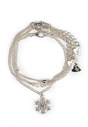 Комплект браслетов Diva. Цвет: серебряный