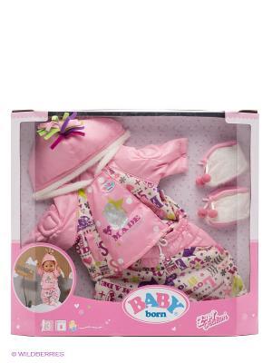 Одежда зимняя для куклы ZAPF. Цвет: розовый