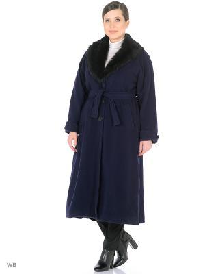 Пальто Castlelady. Цвет: темно-синий
