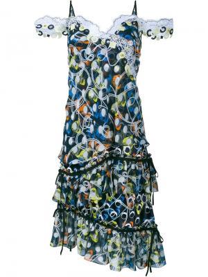 Платье без рукавов Cord Peter Pilotto. Цвет: чёрный