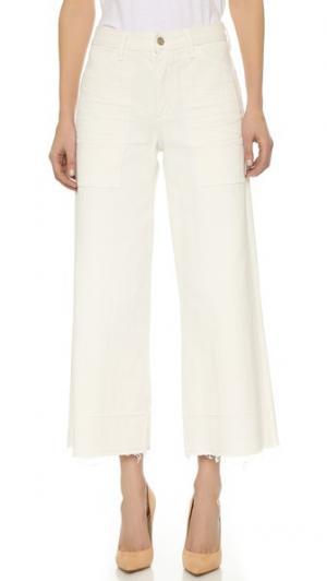 Широкие укороченные джинсы Melanie Citizens of Humanity. Цвет: коричневый