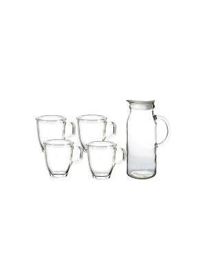 Набор посуды Glasslock IG-667 кувшин + 4 стакана. Цвет: прозрачный