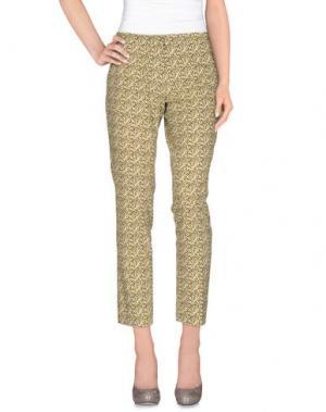 Повседневные брюки MAESTA. Цвет: желтый