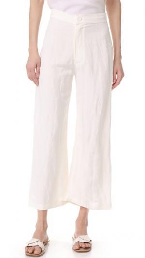 Льняные брюки Julien Rachel Pally. Цвет: белый