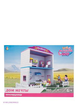 Конструктор Мой маленький мир - Дом мечты 1Toy. Цвет: белый, зеленый, розовый, желтый