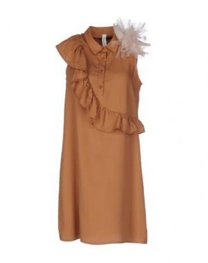 Короткое платье SOUVENIR. Цвет: верблюжий