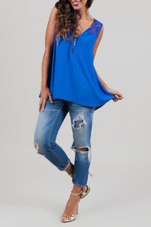 Блуза ANABELLE. Цвет: синий